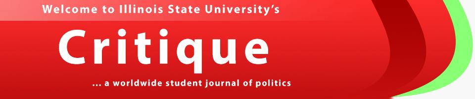 Critique... a worldwide student journal of politics