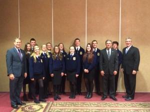 Grassland FFA members pictured with Senator Aument, Representative Zimmerman and Secretary Redding.