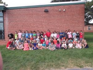 We gathered all the third graders for a group photo.