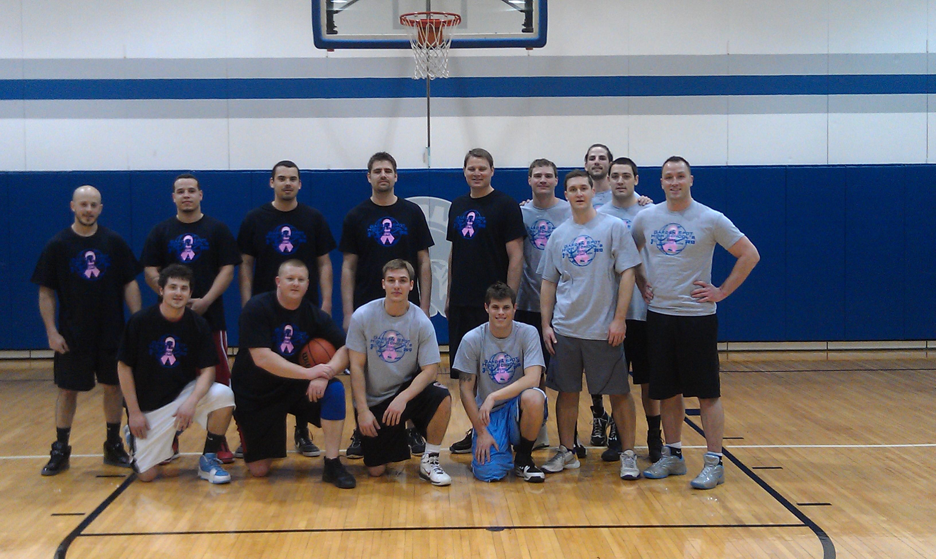 alumni basketball game benefits linda laub fund - Garden Spot