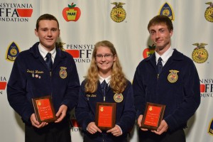 Top 3 individuals in Wildlife Career Development Event