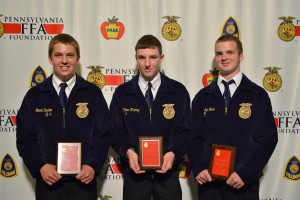 Top 3 individual in Poultry Evaluation CDE
