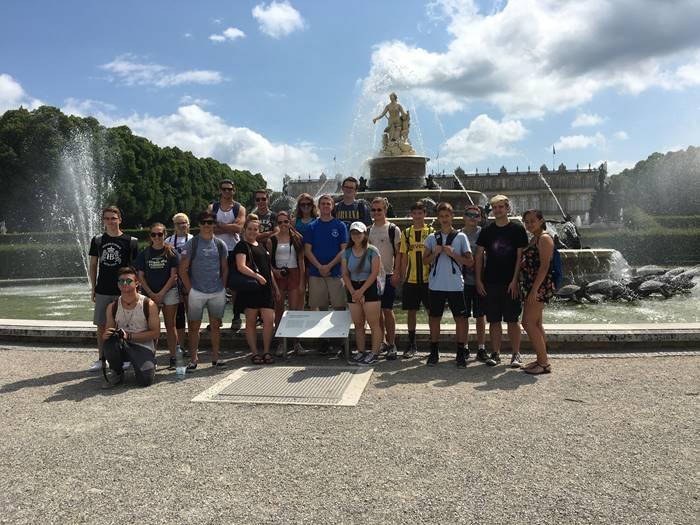 American students visiting Herrenchiemsee Palace