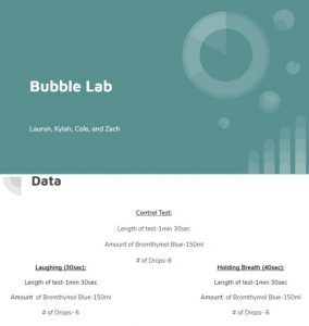 Bubble lab screenshot