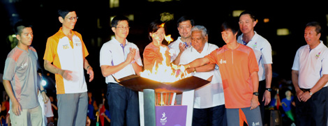 Youth Olympic Flame arrival at NUS