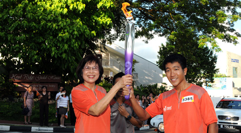 Journey of the Youth Olympic Flame in NUS