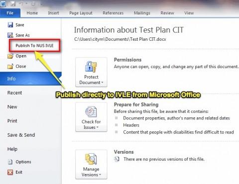 Microsoft Office Workbin Plugin