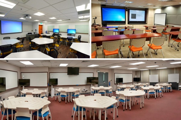 Active Learning Rooms collage