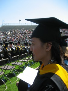 Hidayah Amin at Commencement