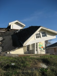 A house torn apart by Hurrican Katrina