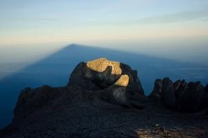 The shadow of Mount Kinabalu