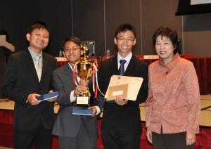 The team receiving the MOF Budget Quiz Challenge Trophy 2010