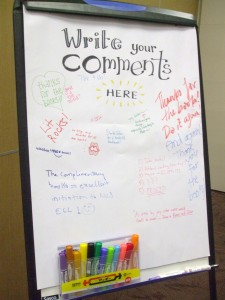 Comments left by Visitors at the Department of English Language and Literature Booth