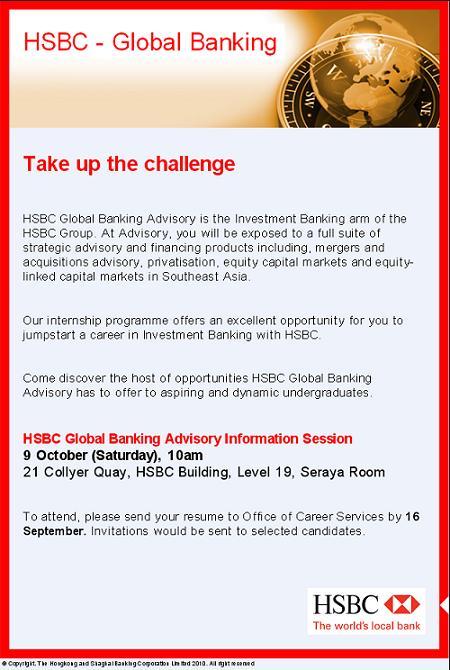 HSBC Global Banking Advisory Internship Opportunities (for
