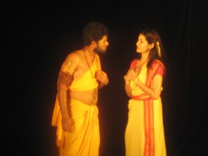 Students of the Dept of English : Main leads of Bhisham Sahni's play Madhavi