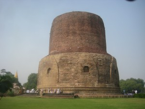 Sarnath-An Important Buddhist Site: 110 feet tall Dhammekha Stupa