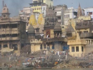 Ganges River: Funeral Rites and the Burning of Corpses along the ghats