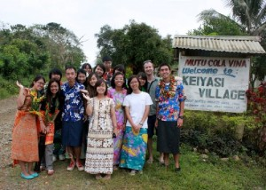 Attired in the traditional costume (sulu chamb and bula shirts) on the last day in Keiyasi