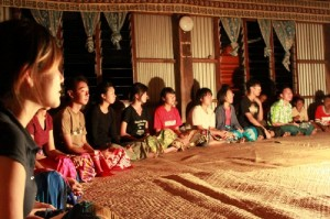 Sevu-sevu (traditional protocol) on our first night at the Keiyasi village