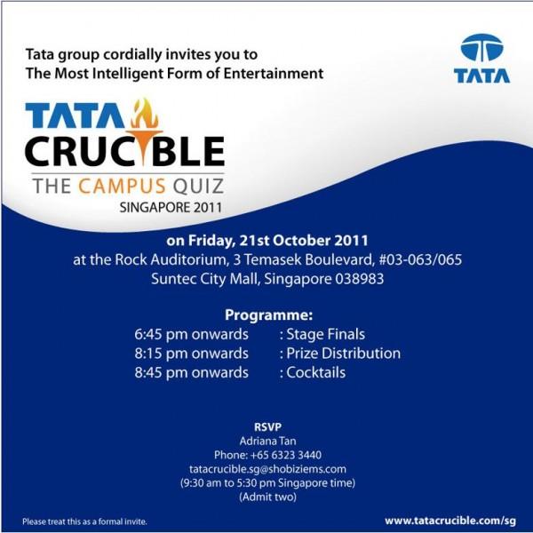 TATA Crucible Invite
