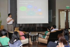 Prof Bao Zhiming presenting
