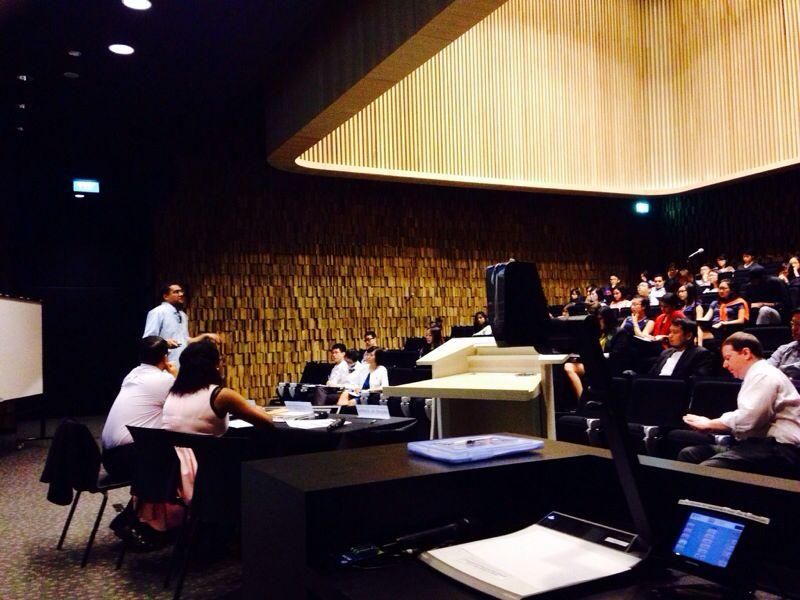 Dr Monti Datta giving a presentation