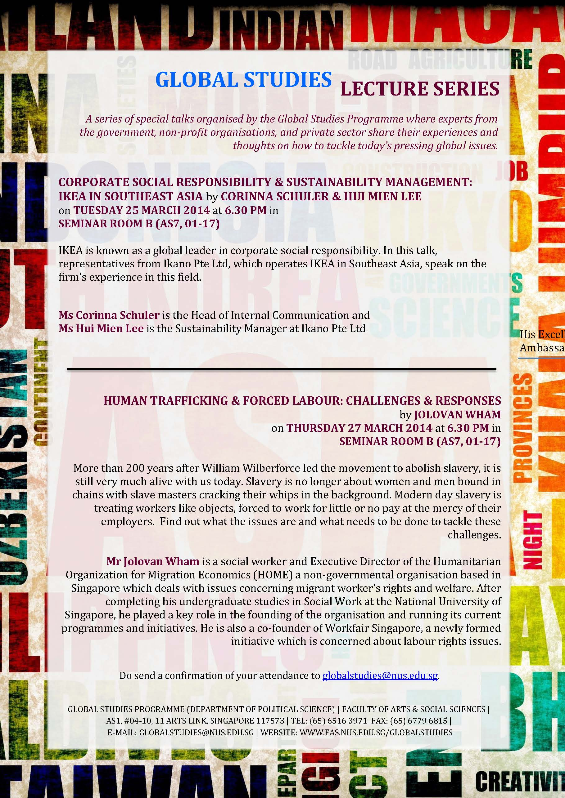 GL Lecture Series - March 25 and 27 2014