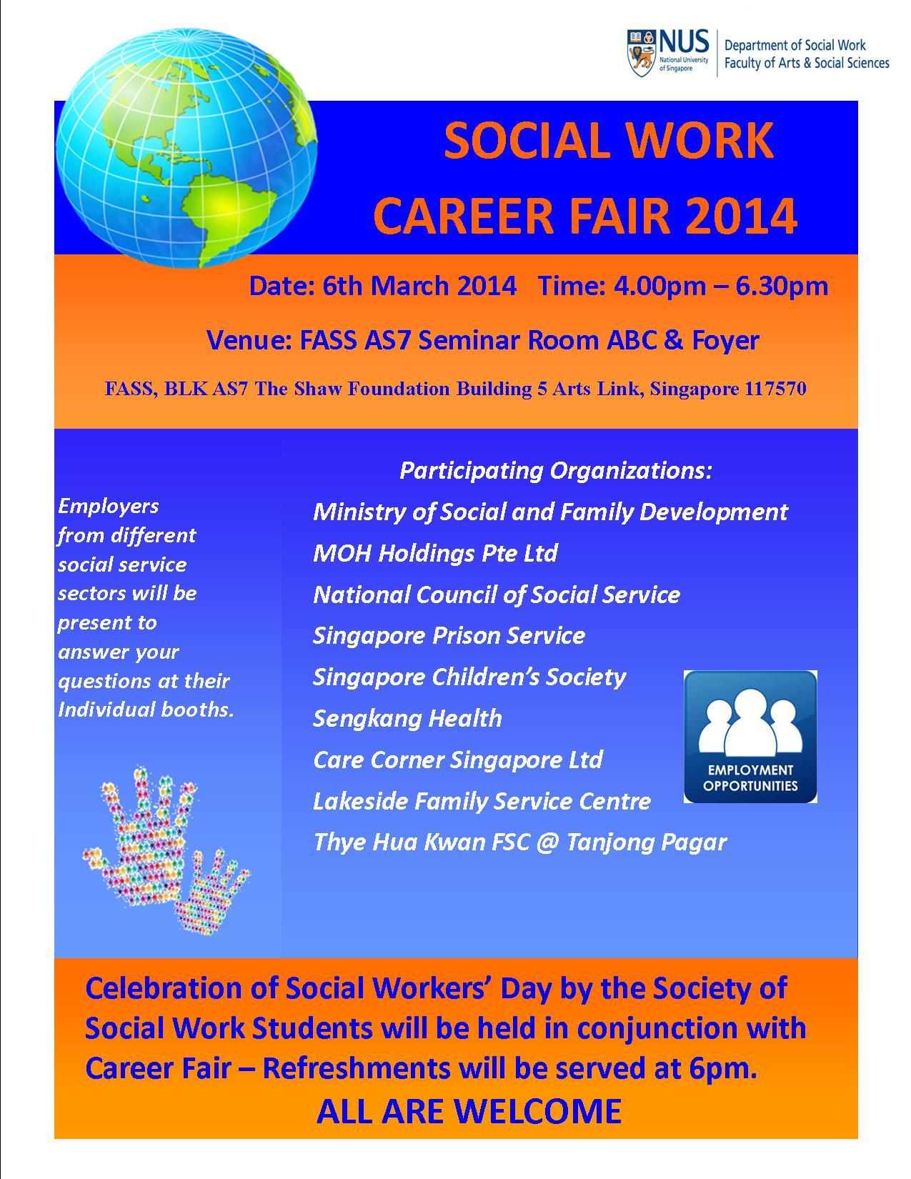 Invitation: Social Work Career Fair 2014 – 6 March 2014 ... - photo #4