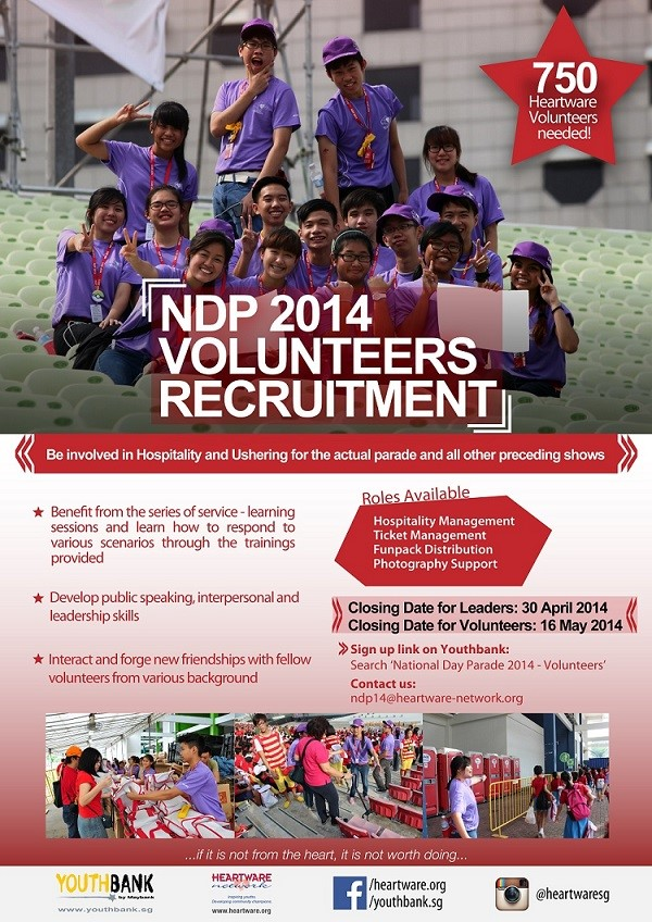 Poster for NDP volunteer