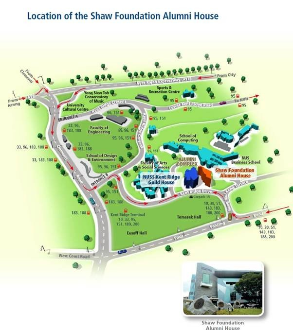 Map - Shaw Foundation Alumni House