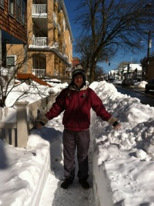 It snows a lot in New England. How much it snows is not funny.""