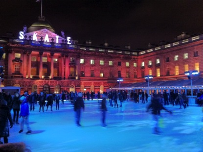 Somerset House, which is next to my department building, Winter 2012. The whole space is converted to an ice skating rink every December.