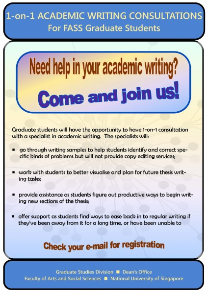 Poster for Writing Consulations Sem I 2015-2016