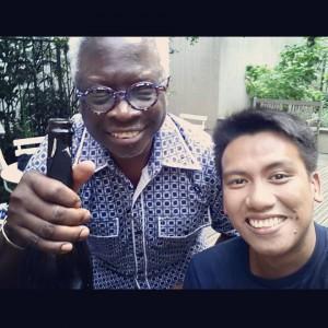 Selfie time with Prof. Salikoko Mufwene