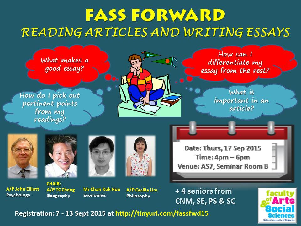FASS Forward - Reading Articles and Writing Essays Sept 2015