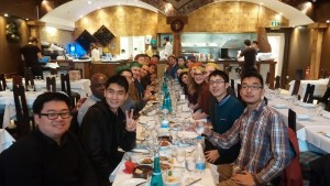 Year-end lunch organized by King's Interdisciplinary Social Science for its members.