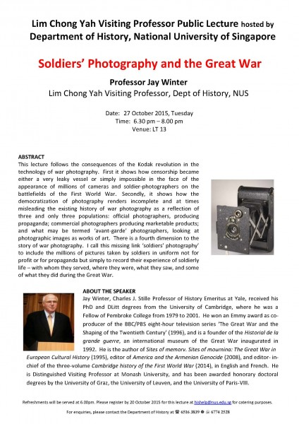 Public Lecture - Jay Winter