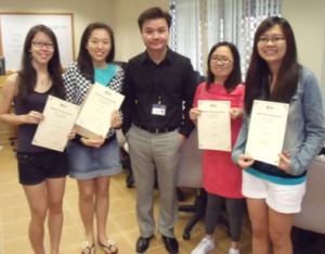 Stephen Lim and the students of the project group