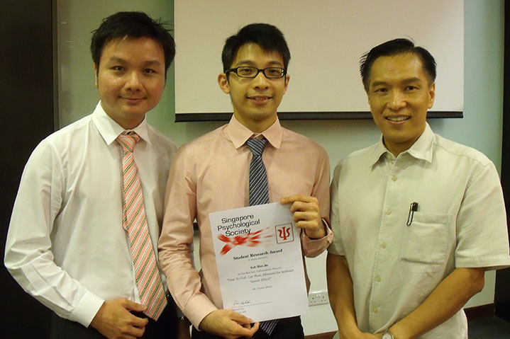 Soh Wei Jie and Julianne Tan Wen-Li win Singapore Psychological Society Undergraduate Research Awards!