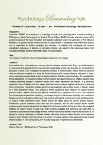 Psychology Brownbag Talk_9 Oct 2014 (Thursday)