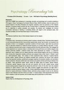 Psychology Brownbag Talk_9 Oct 2014 (Thursday)