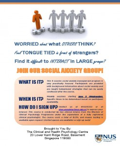 Social anxiety group flyer