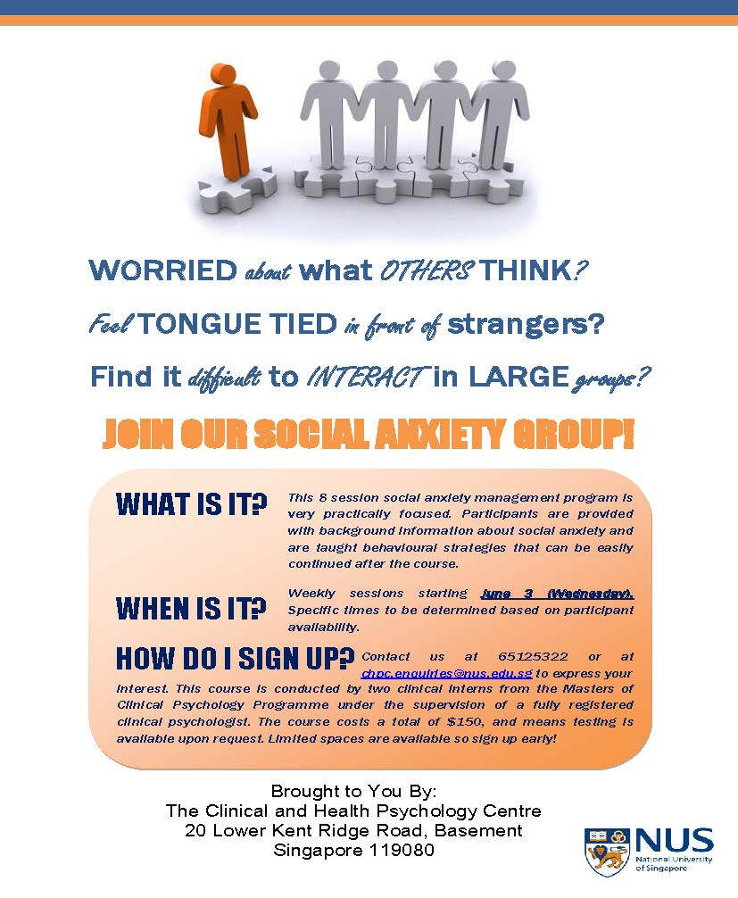 Social Anxiety Management Program (Organized by CHPC)