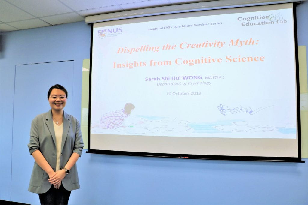 Instructor Sarah Wong's Invited Research Talk at Inaugural FASS Lunchtime Seminar Series 2019