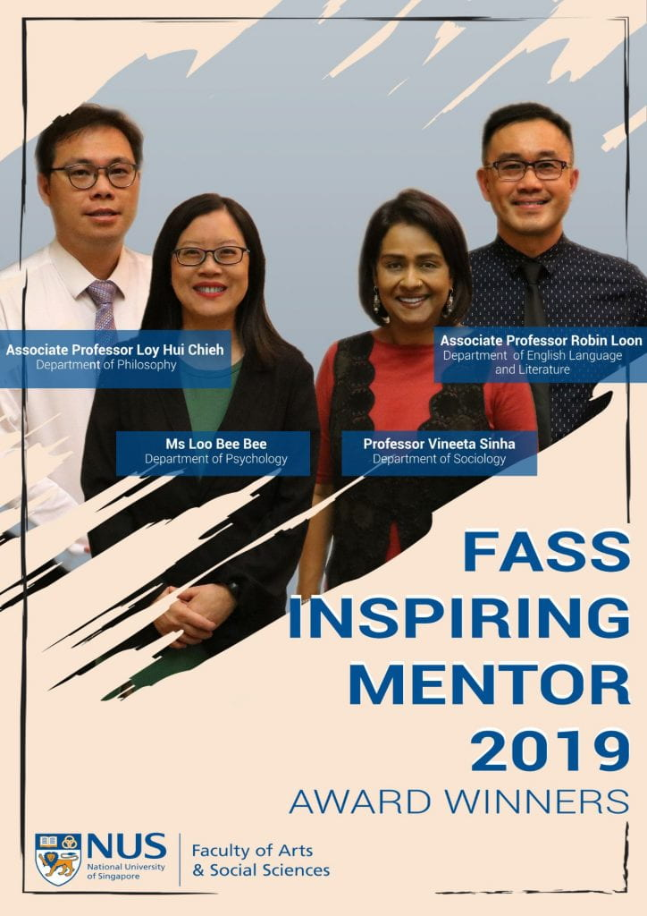 Associate Director Ms Loo Bee Bee Wins FASS Inspiring Mentor Award 2019!