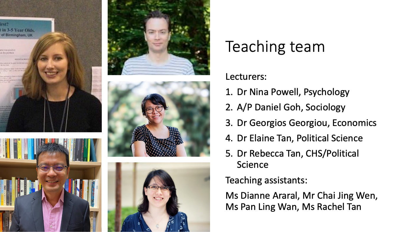 Dr. Nina Powell on Teaching Team of New Integrated Module in Social Sciences for the NUS College of Humanities and Sciences