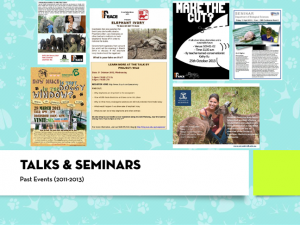 NUS PEACE talks&seminars (2011-2013)