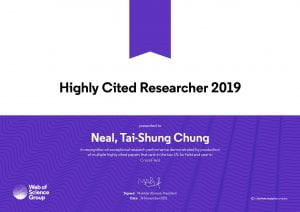 Highly Cited Researcher Award 2019 (Prof Chung)