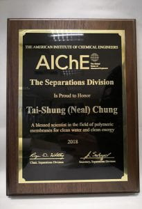 Prof Chung AICHE Cert