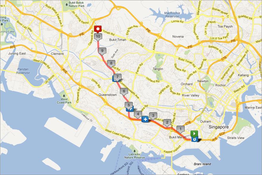 Route for Green Corridor Run